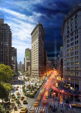 <div class='beschrijving'><span class='titel'>FLAT IRON, NYC - DAY TO NIGHT  </span><br> PHOTOGRAPHY 101,5 X 72,5 CM AND 152,5 X 109,5 CM</div>